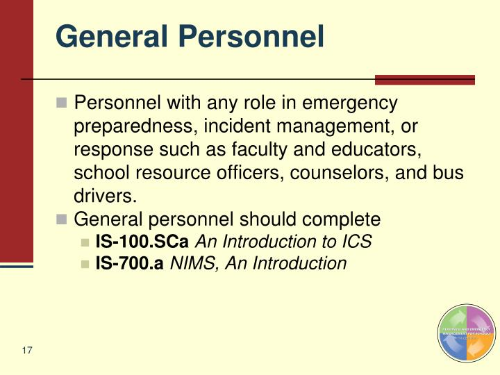 General Personnel