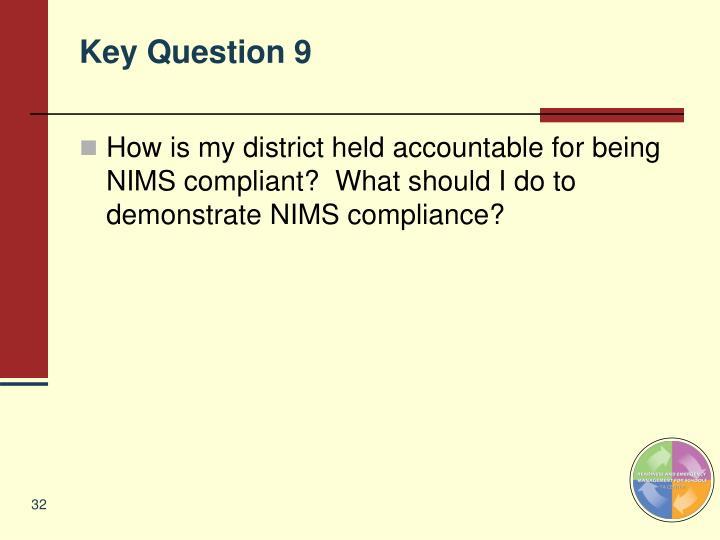 Key Question 9