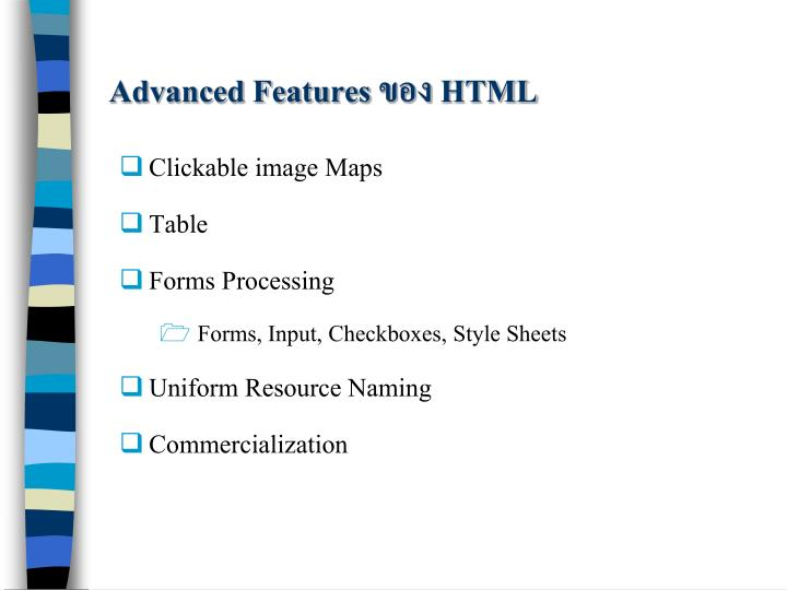 Advanced Features ของ HTML