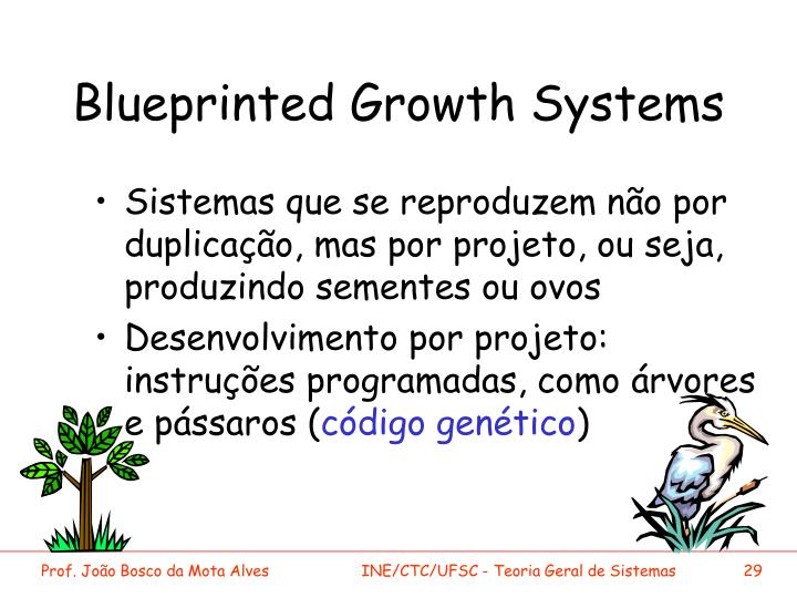Blueprinted Growth Systems