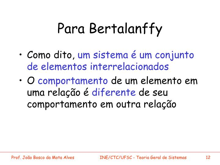 Para Bertalanffy