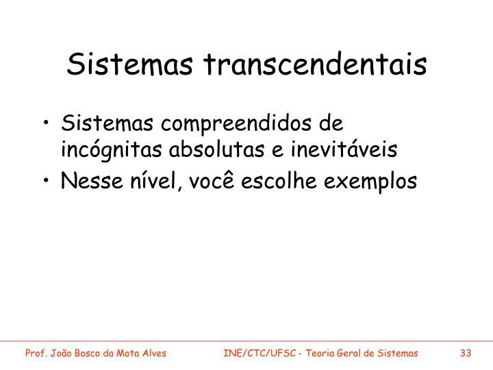 Sistemas transcendentais