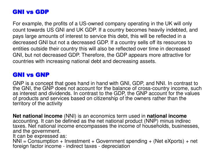 GNI vs GDP