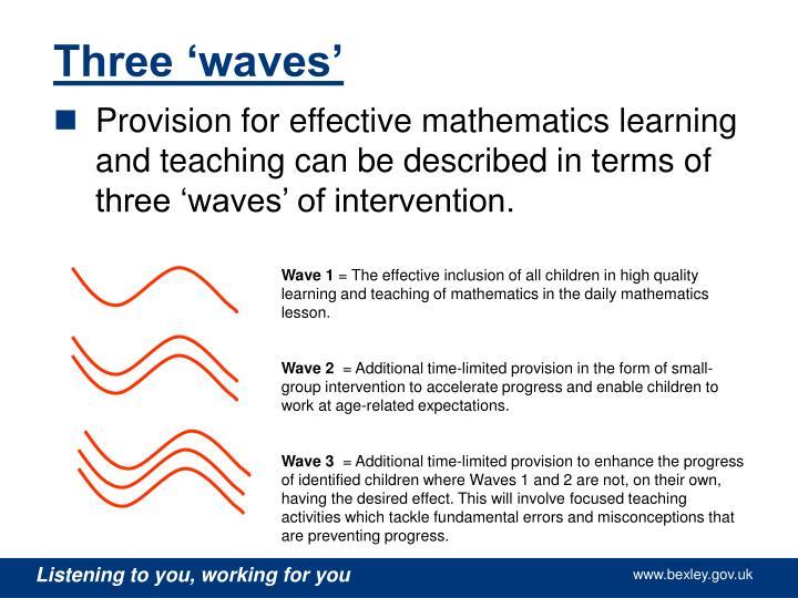 Three 'waves'