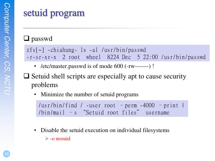 setuid program