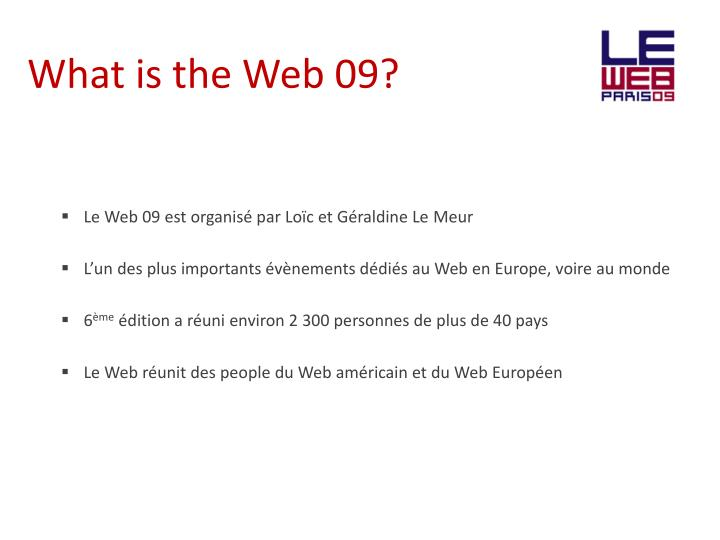 What is the web 09