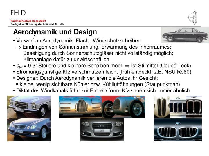 Aerodynamik und Design