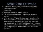 amplification of praise