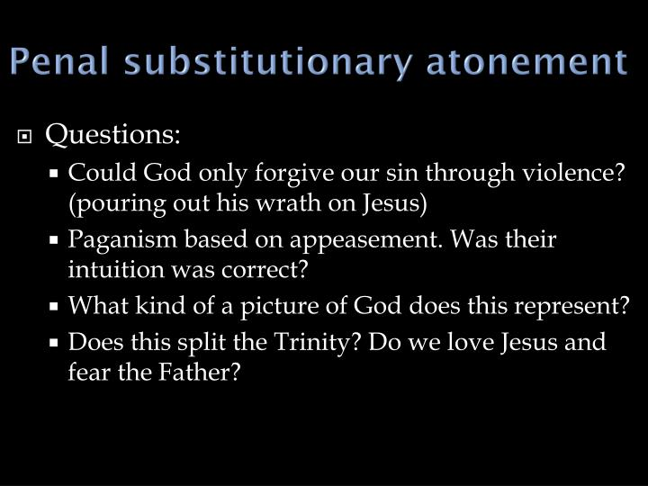 Penal substitutionary atonement