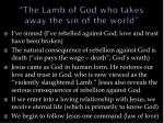 the lamb of god who takes away the sin of the world1