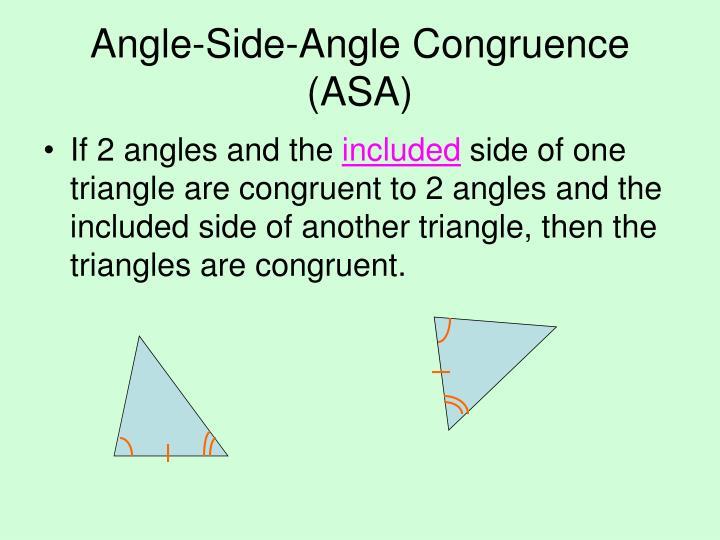 Angle-Side-Angle Congruence