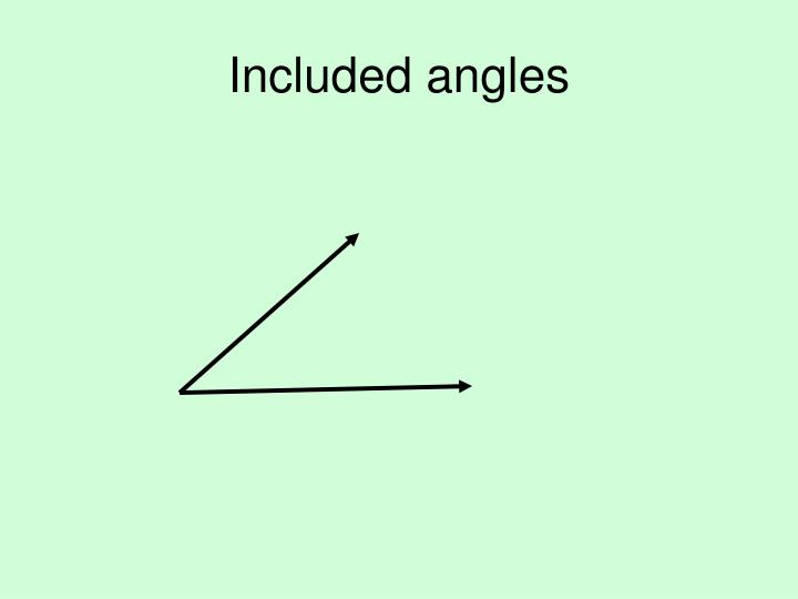 Included angles