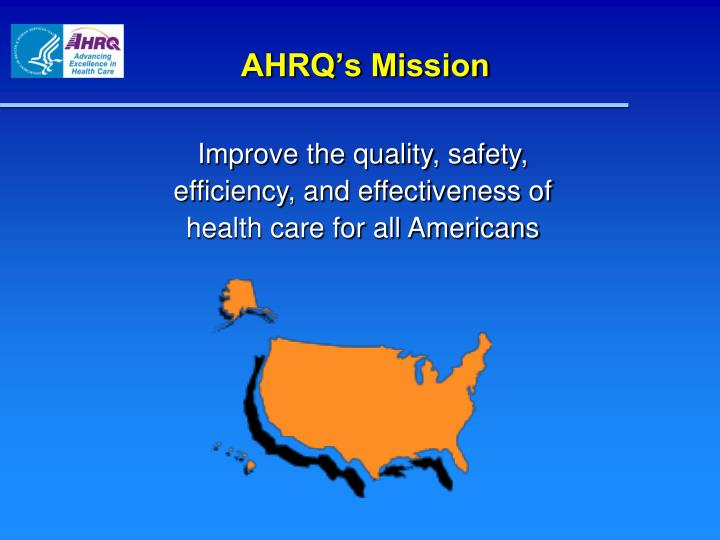 AHRQ's Mission
