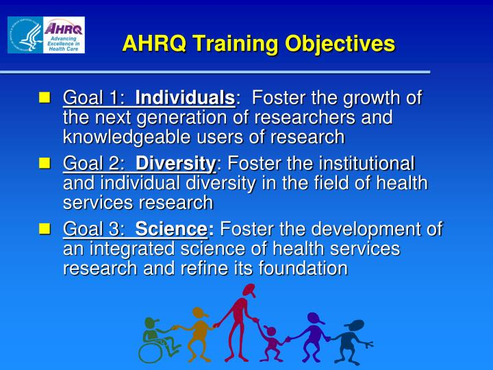 AHRQ Training Objectives