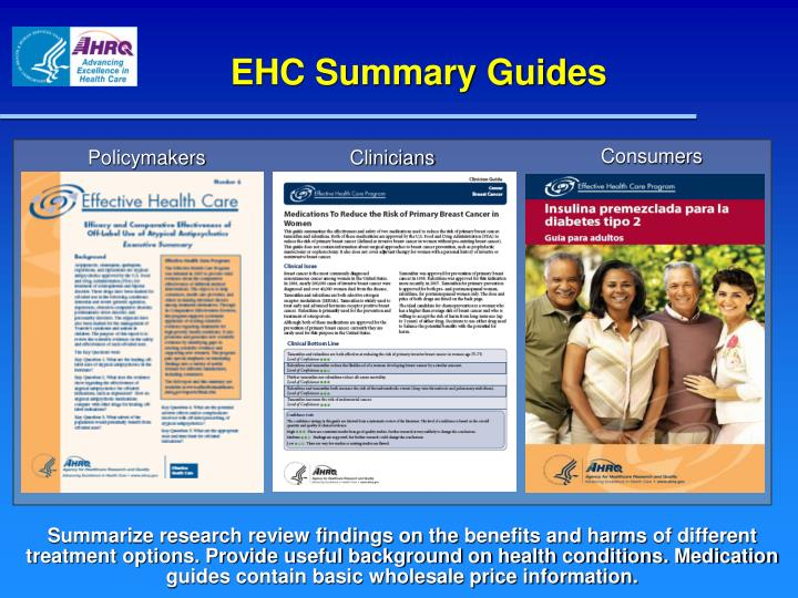 EHC Summary Guides