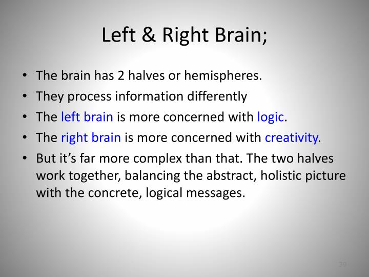 Left & Right Brain;