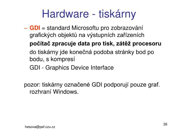 Hardware - tiskárny