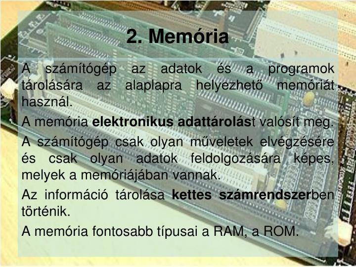 2. Memória