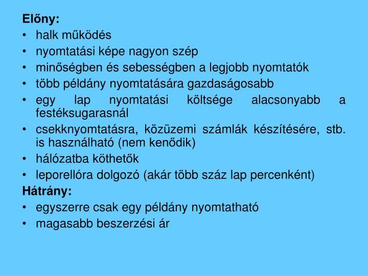Előny: