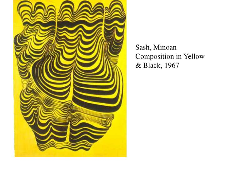 Sash, Minoan Composition in Yellow & Black, 1967
