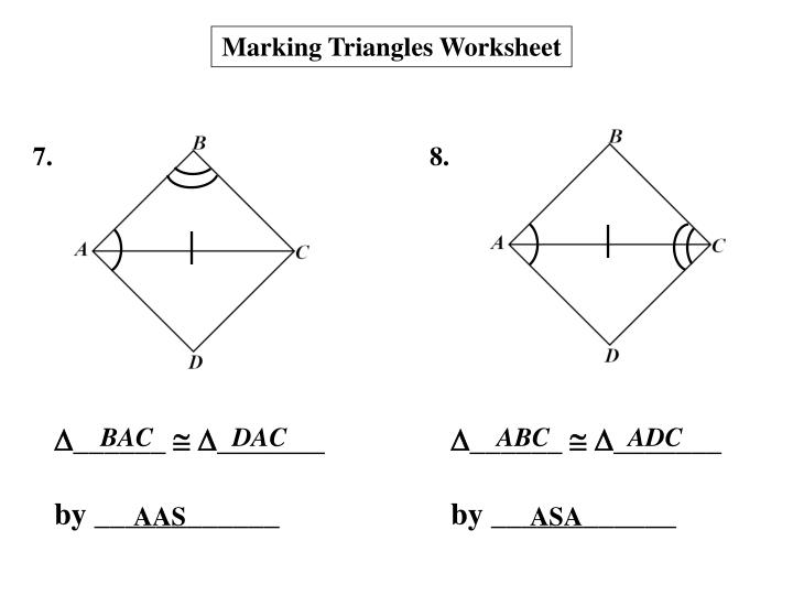 Marking Triangles Worksheet