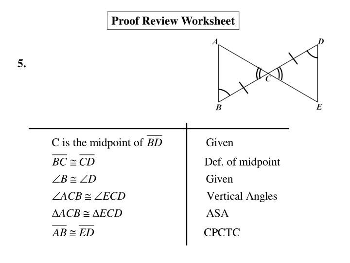 Proof Review Worksheet
