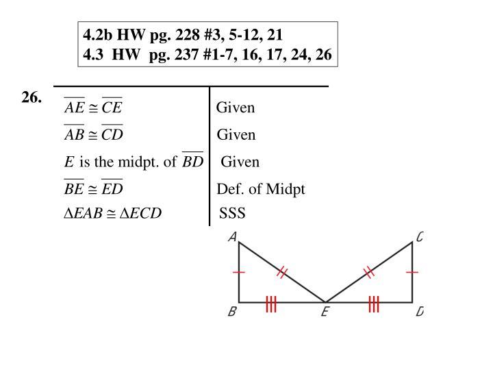 4.2b HW pg. 228 #3, 5-12, 21