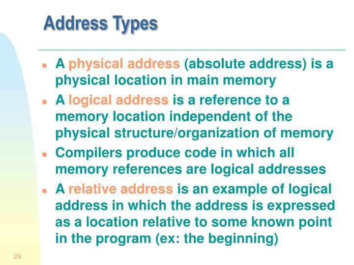 Address Types