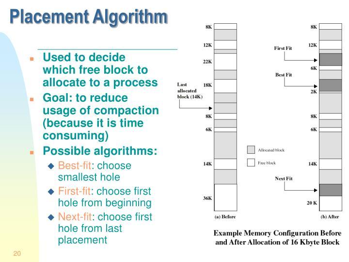 Placement Algorithm