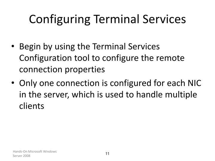 Configuring Terminal Services
