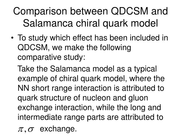 Comparison between QDCSM and