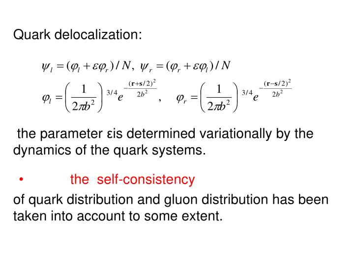 Quark delocalization: