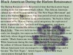 black american during the harlem renaissance