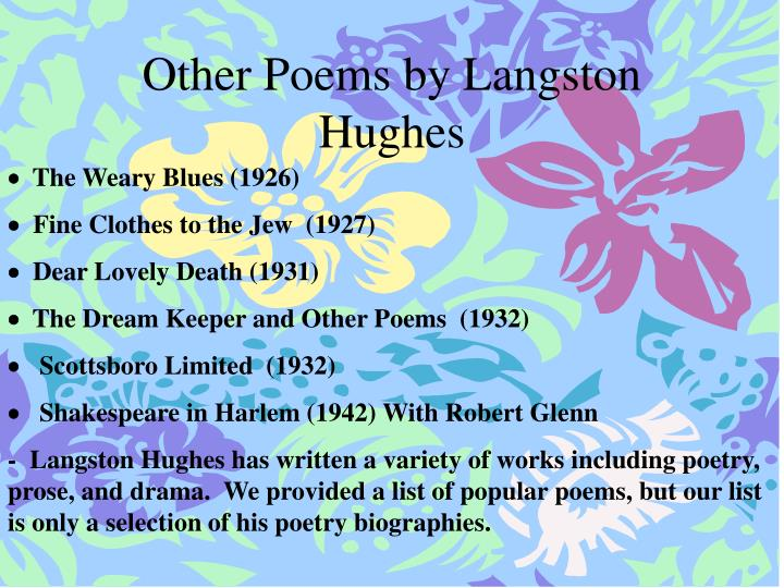 Other Poems by Langston Hughes