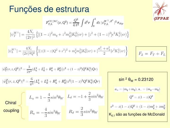 Funções de estrutura