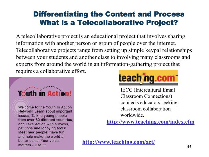 Differentiating the Content and Process