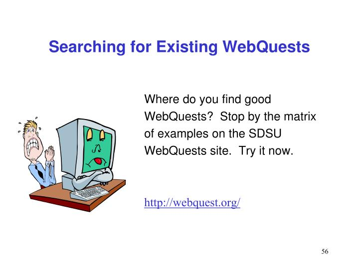 Searching for Existing WebQuests