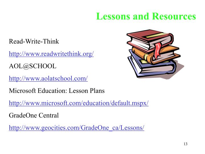 Lessons and Resources