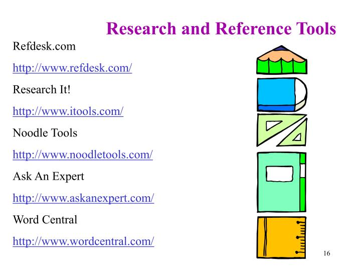Research and Reference Tools