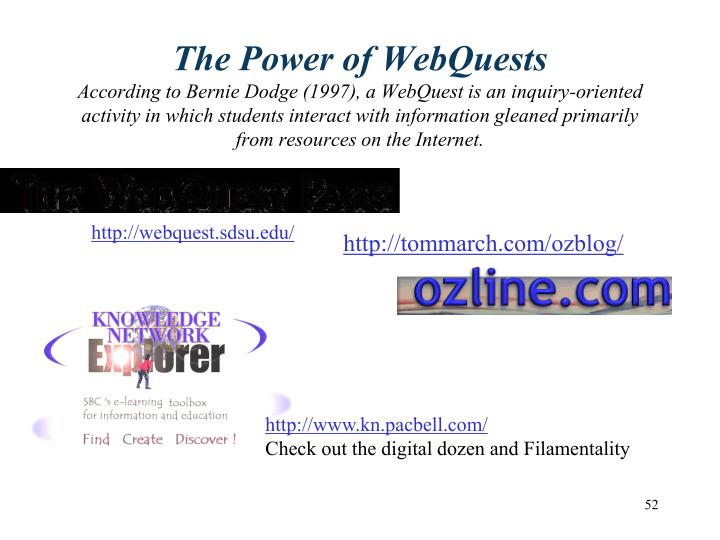 The Power of WebQuests
