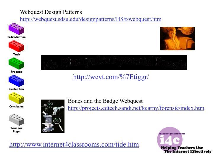 Webquest Design Patterns