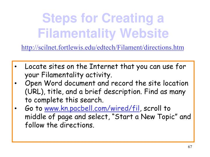 Steps for Creating a