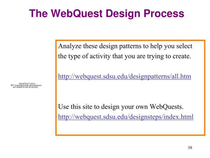 The WebQuest Design Process