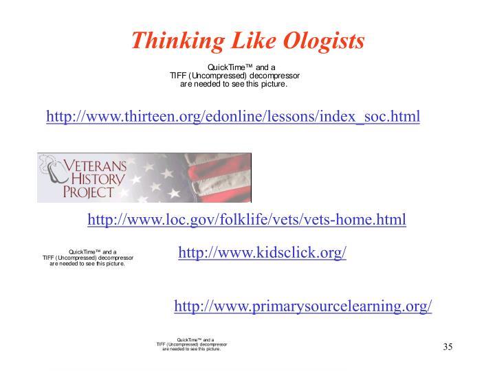 Thinking Like Ologists