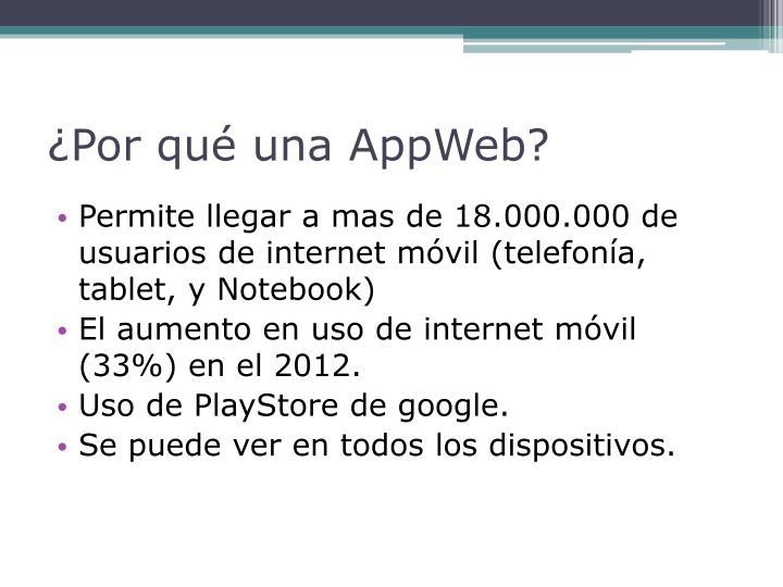 ¿Por qué una AppWeb?
