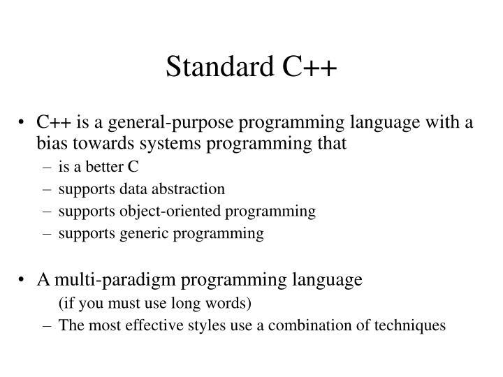 Standard C++