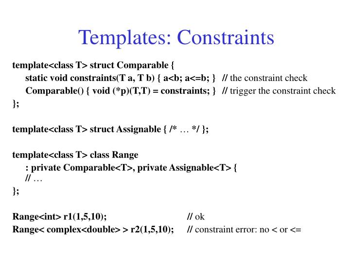 Templates: Constraints