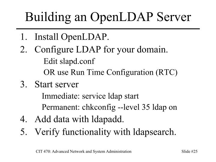 Building an OpenLDAP Server
