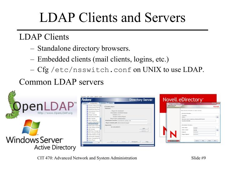 LDAP Clients and Servers