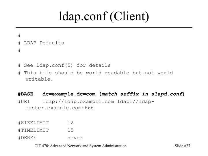 ldap.conf (Client)
